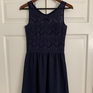 Lilly Pulitzer Navy Blue Lace & Cotton dress